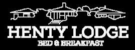 henty lodge logo white